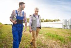 Partner lavoranti all'azienda agricola Immagini Stock