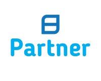 Partner Logo Design Lizenzfreies Stockbild