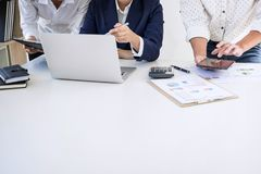 Partner meetings and briefing, Teamwork of business colleagues c. Onsultation and conference new strategy business plan working analyzing start up and investment stock photography