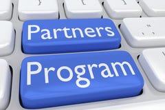 Partner-Programmkonzept Stockfoto