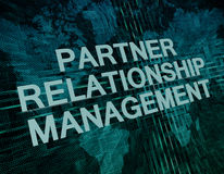 Partner Relationship Management Stock Images