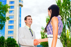 Partner shaking hands Royalty Free Stock Photo