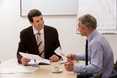 Partner sui negoziati Immagine Stock