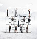 Partner  team integration. Cooperation and integration for a successful team Royalty Free Stock Photography
