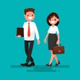 Partner twee gaat samen Vector illustratie royalty-vrije illustratie