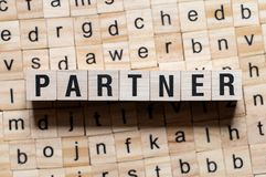 Partner word concept stock photos