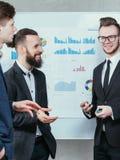 Partnera biznesowego współpracy korporacyjny spotkanie fotografia stock