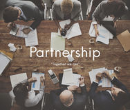 Partnerhsip Agreement Business Collaboration Concept. People Discuss Partnership Agreement Business Collaboration Stock Photos