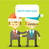 Partners in Business congratulate each other on. Christmas and New Year . Excellent partnership and success every year. illustration ps 10 Royalty Free Stock Images