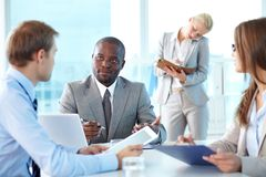 Partners communicating Stock Photo