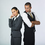 Partners in conflict Royalty Free Stock Photography