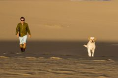 Partners in the dunes Royalty Free Stock Photos