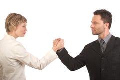 Partners - genders cooperaton Royalty Free Stock Image