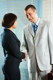 Partners handshaking Royalty Free Stock Image
