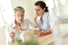 Partners having business meeting Royalty Free Stock Image