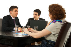 Partners having conversation Royalty Free Stock Image