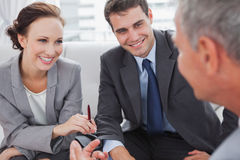 Partners having a meeting Royalty Free Stock Photography