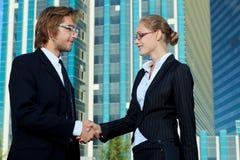Partners samen Stock Afbeelding