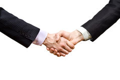 Partners shaking hands isolated Royalty Free Stock Images