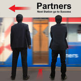 Partners on the sky train station Royalty Free Stock Images