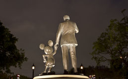 Partners. A statue of Mickey Mouse and Walt Disney called Partners  Backside Royalty Free Stock Photos