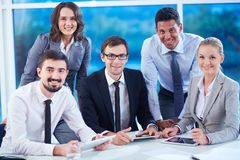 Partners at workplace Stock Photos