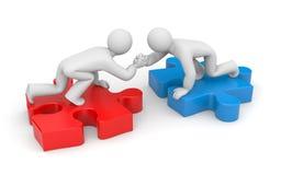 Partnerschaft. Handreichung Lizenzfreie Stockbilder