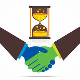 Partnerschaft oder Geschäftsverbindungsdesign Lizenzfreies Stockfoto