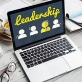 Partnerschaft Unternehmens-Team Leader Font Concept Stockfoto