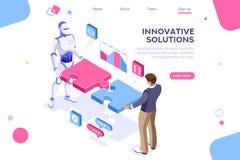 Partnerschafts-Kontakt-Konzept-menschliche Interaktion stock abbildung