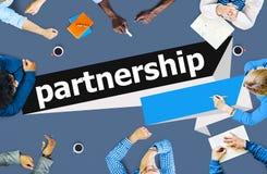 Partnerschafts-Teamwork Team Building Organazation Concept Stockbild