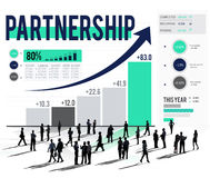 Partnerschafts-Verbindung Unternehmens-Team Support Concept Stockbild