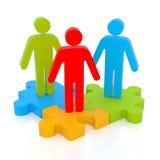 Partnerschaftskonzept lizenzfreie abbildung