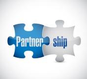 Partnerschaftspuzzlespiel-Stückkonzeptillustration Lizenzfreies Stockbild