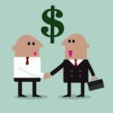 Partnershandenschudden Stock Illustratie