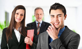 Partnership. Three businesspeople in an office Royalty Free Stock Photo