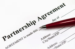 Partnership agreement Stock Photos