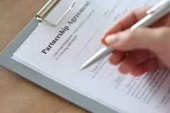 Partnership agreement Royalty Free Stock Image