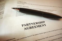 Partnership agreement Royalty Free Stock Images