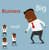 Partnership between big and small business Stock Photo