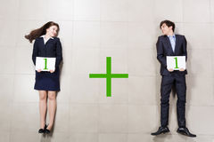 Partnership in business Stock Image