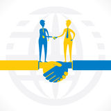 Partnership or business relation design Stock Photo