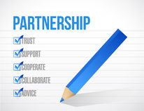 Partnership check list illustration design. Over a white paper background Stock Photos