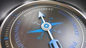 Partnership compass Stock Image