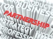 Partnership Concept. Concept Featuring Partnership Terms. Partnership Word Cloud Concept Stock Photos