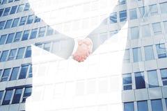 Partnership concept multiexposure Stock Photography