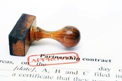 Partnership contract Stock Photo