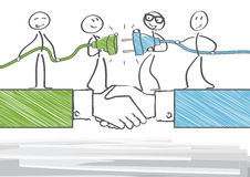 Partnership and cooperation Stock Image
