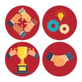 Partnership and cooperation icons Stock Photo