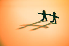 Partnership. Cooperation. Two men holding hands Royalty Free Stock Photography